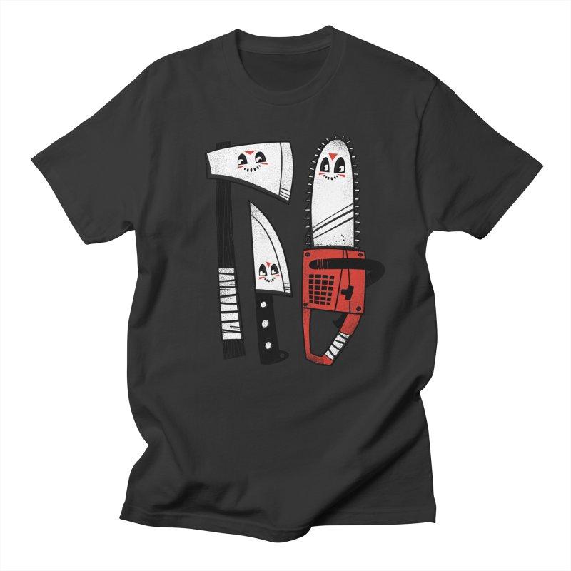 Happy Slasher Pals Men's T-Shirt by Morkki