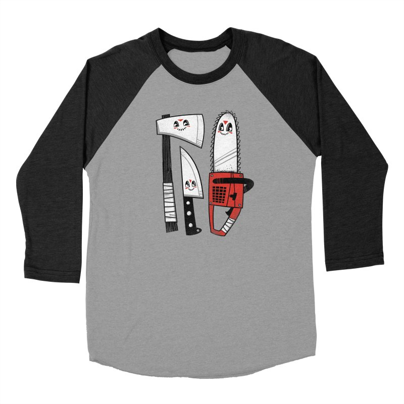 Happy Slasher Pals Men's Baseball Triblend Longsleeve T-Shirt by Morkki