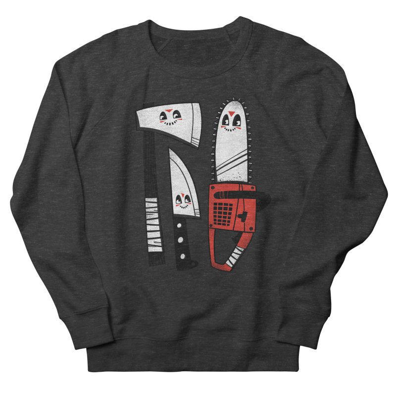 Happy Slasher Pals Women's French Terry Sweatshirt by Morkki