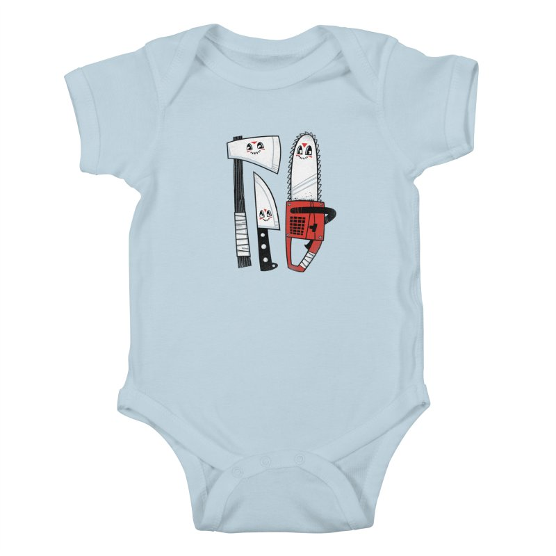Happy Slasher Pals Kids Baby Bodysuit by Morkki