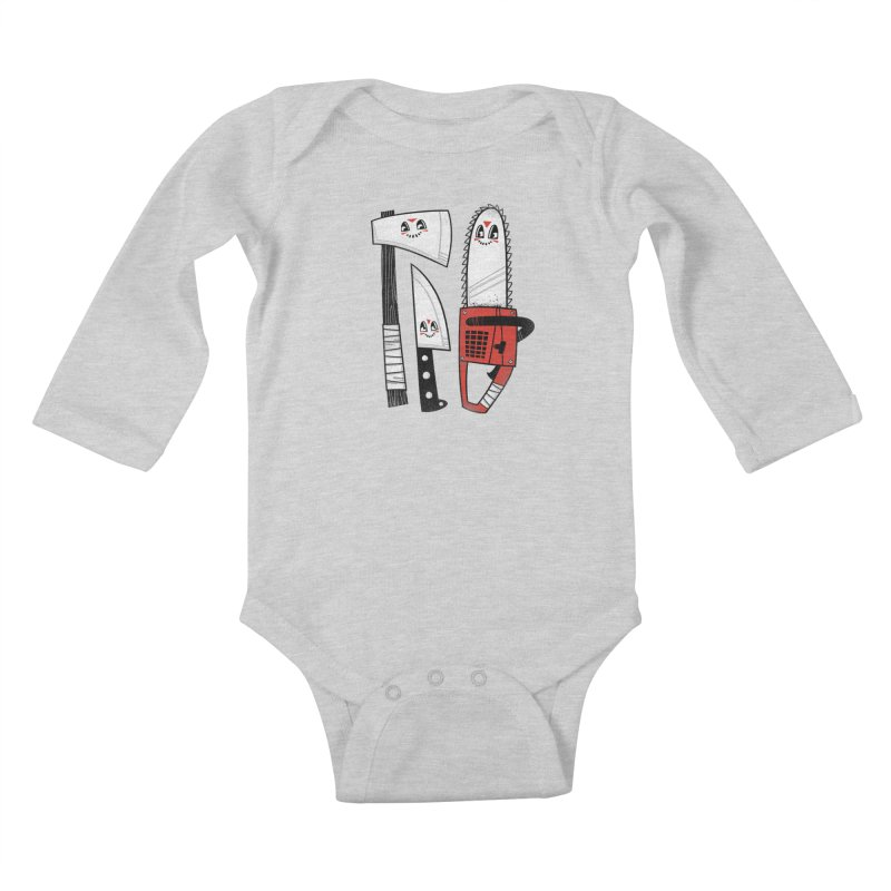 Happy Slasher Pals Kids Baby Longsleeve Bodysuit by Morkki