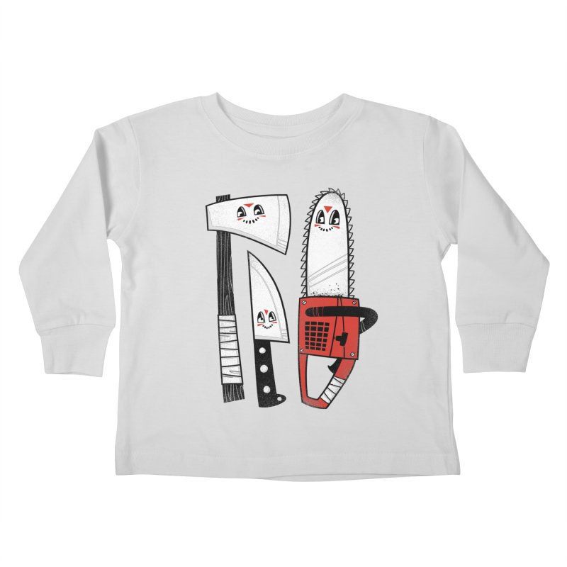 Happy Slasher Pals Kids Toddler Longsleeve T-Shirt by Morkki
