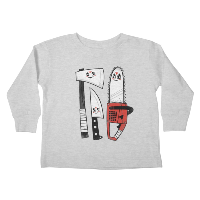 Happy Slasher Pals Kids Toddler Longsleeve T-Shirt by Morkki