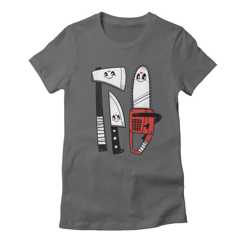 Happy Slasher Pals Women's Fitted T-Shirt by Morkki