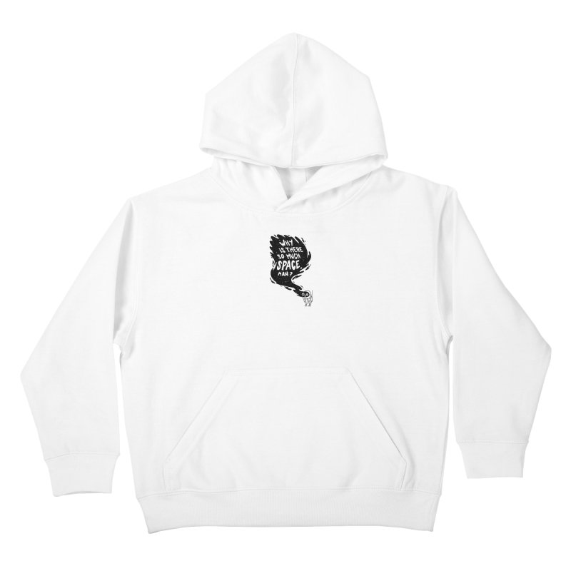 Space Anxiety Kids Pullover Hoody by Morkki