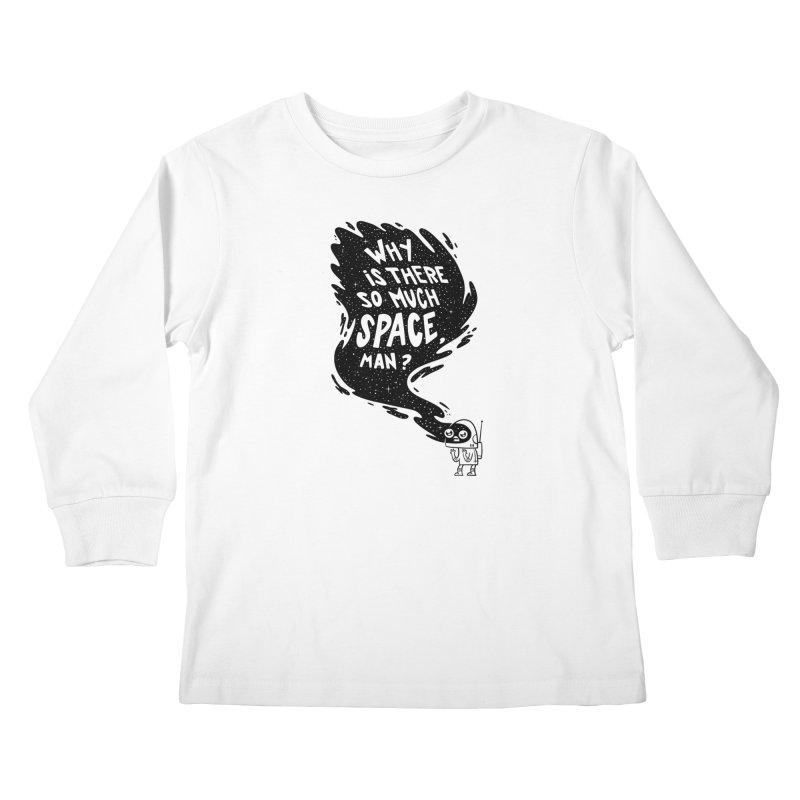 Space Anxiety Kids Longsleeve T-Shirt by Morkki