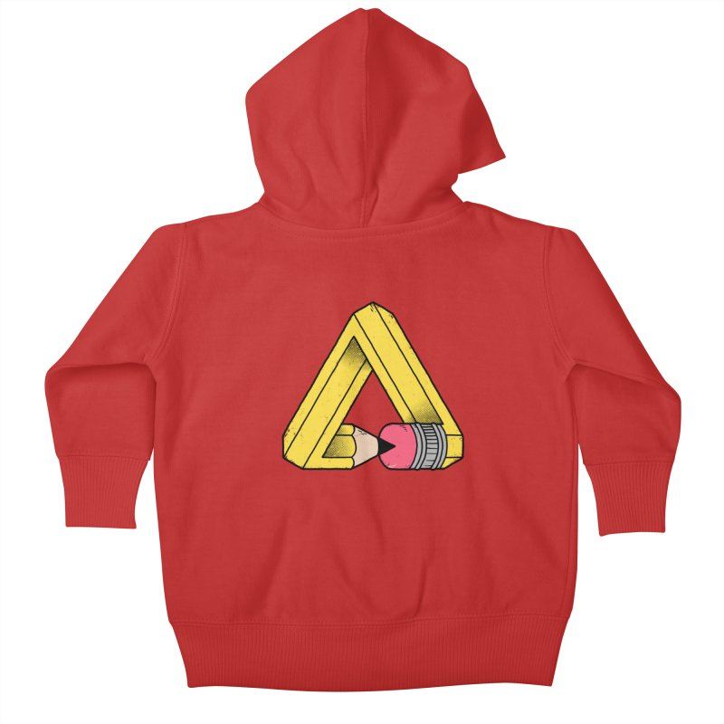 You Can Draw Anything Kids Baby Zip-Up Hoody by Morkki