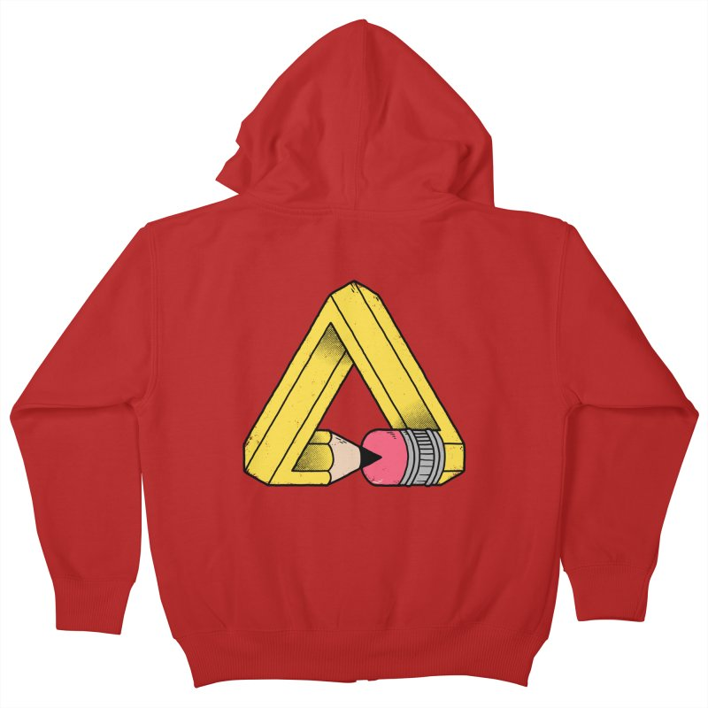 You Can Draw Anything Kids Zip-Up Hoody by Morkki