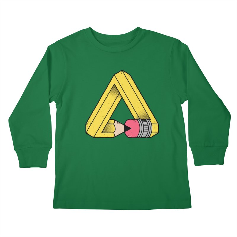 You Can Draw Anything Kids Longsleeve T-Shirt by Morkki