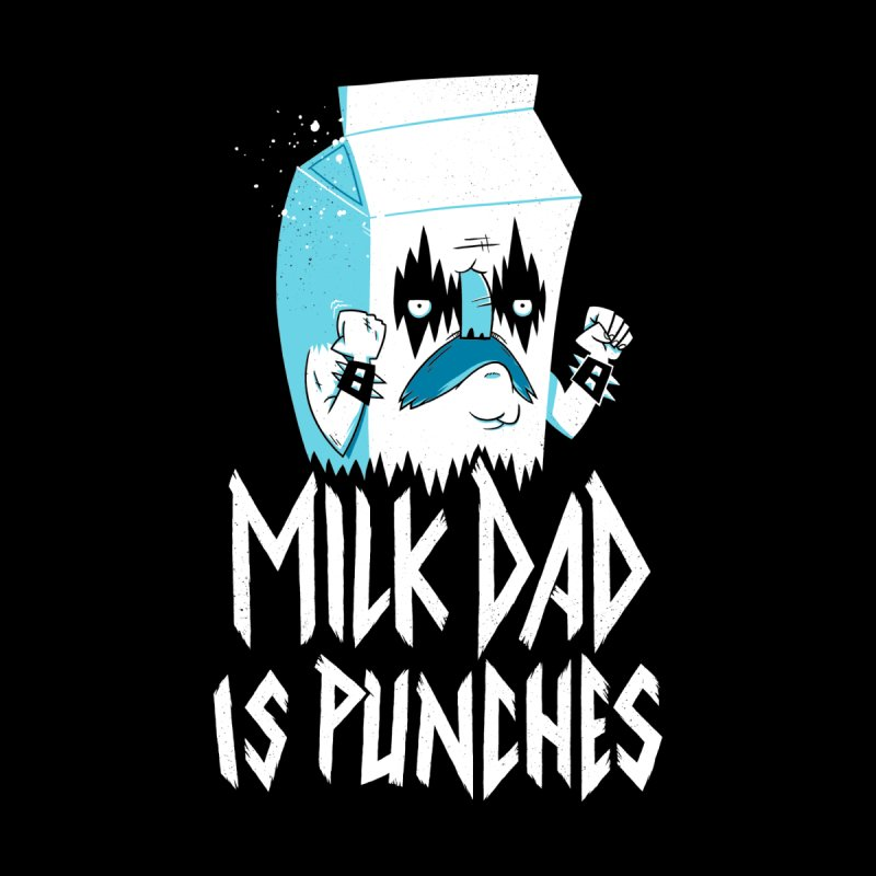 Milk Dad Is Punches Women's Racerback Triblend Tank by Morkki