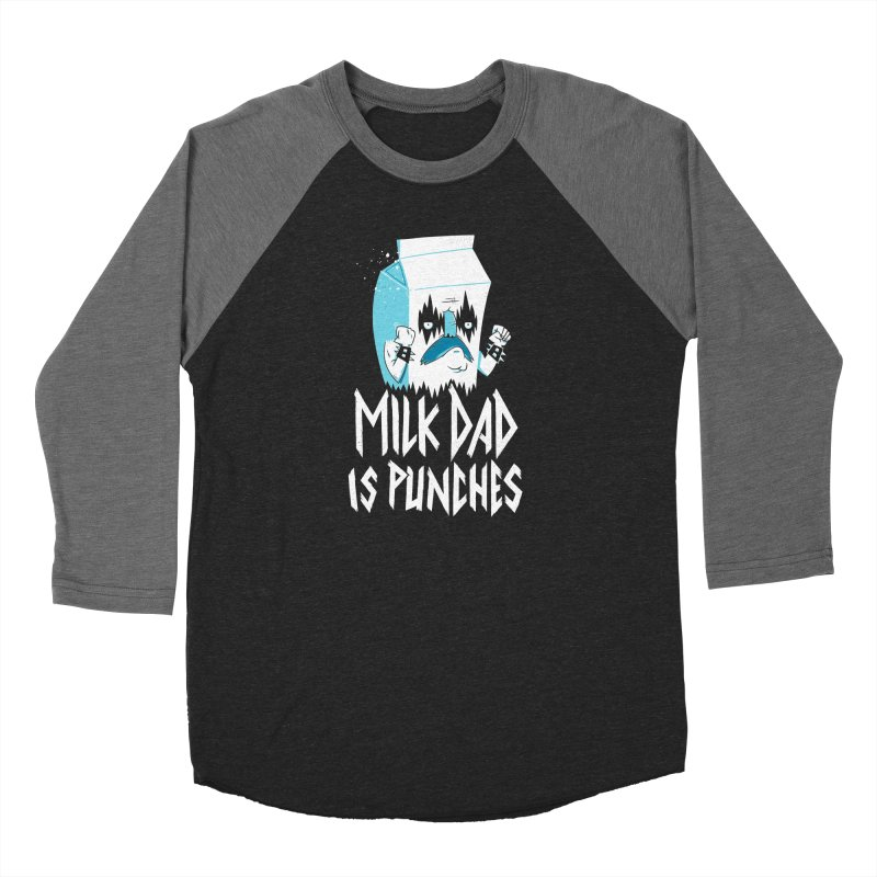 Milk Dad Is Punches Women's Baseball Triblend Longsleeve T-Shirt by Morkki