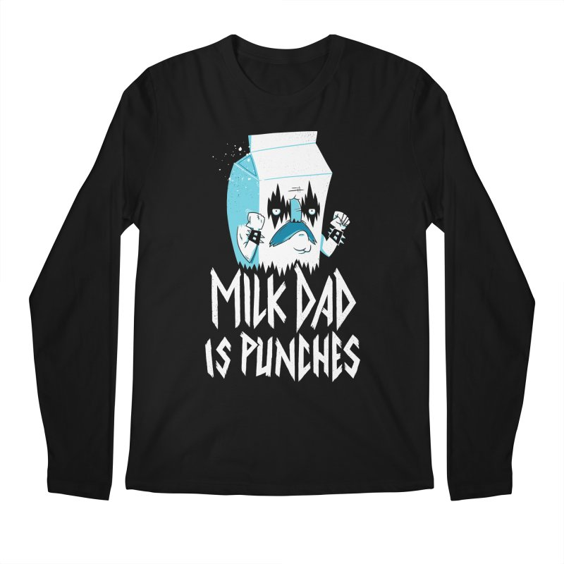 Milk Dad Is Punches Men's Regular Longsleeve T-Shirt by Morkki