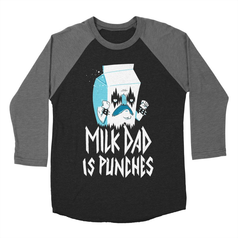 Milk Dad Is Punches Men's Baseball Triblend T-Shirt by Morkki