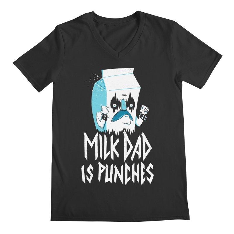 Milk Dad Is Punches Men's Regular V-Neck by Morkki