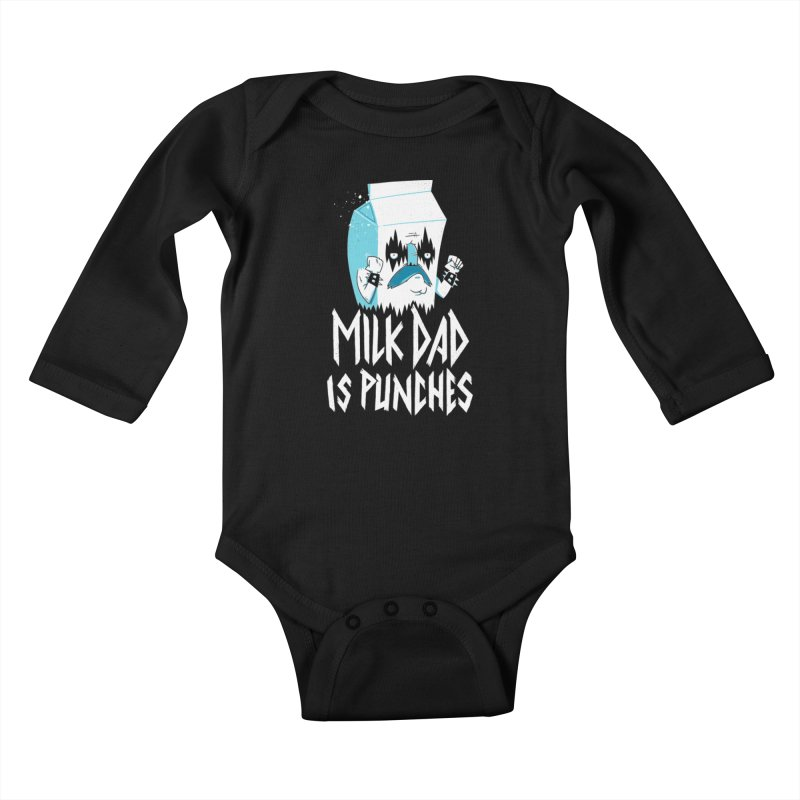 Milk Dad Is Punches Kids Baby Longsleeve Bodysuit by Morkki