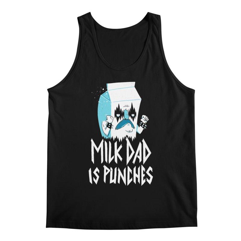 Milk Dad Is Punches Men's Tank by Morkki