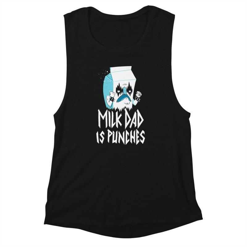 Milk Dad Is Punches Women's Tank by Morkki