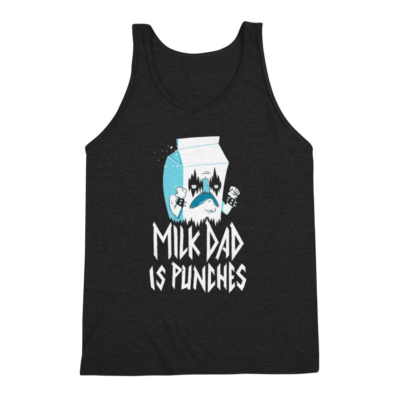 Milk Dad Is Punches Men's Triblend Tank by Morkki