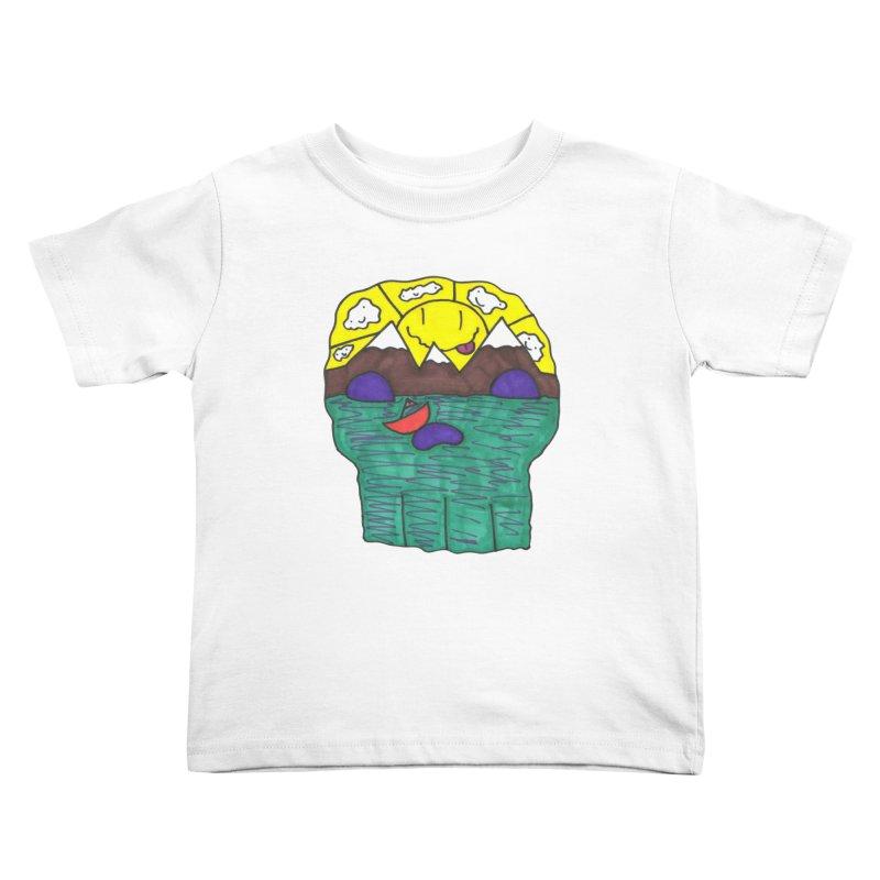 Skull Island Kids Toddler T-Shirt by morningviewstudios's Artist Shop