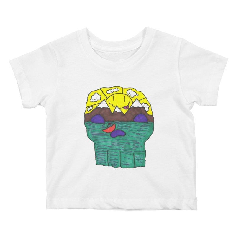 Skull Island Kids Baby T-Shirt by morningviewstudios's Artist Shop