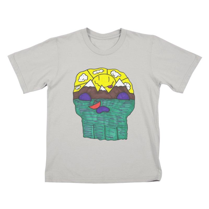 Skull Island Kids T-Shirt by morningviewstudios's Artist Shop