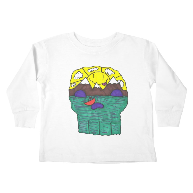 Skull Island Kids Toddler Longsleeve T-Shirt by morningviewstudios's Artist Shop