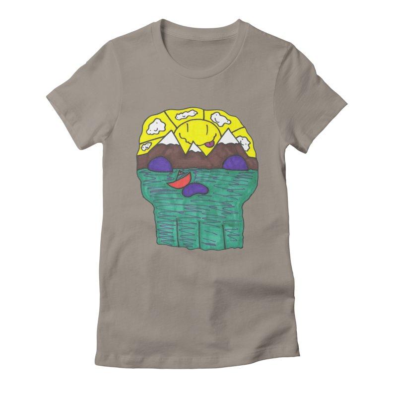 Skull Island Women's Fitted T-Shirt by morningviewstudios's Artist Shop