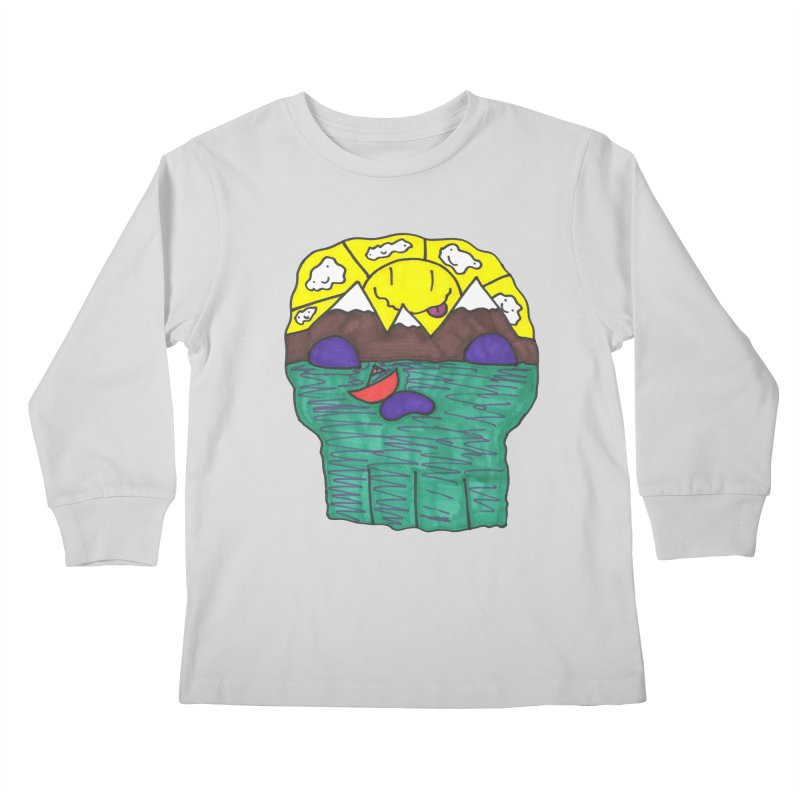 Skull Island Kids Longsleeve T-Shirt by morningviewstudios's Artist Shop