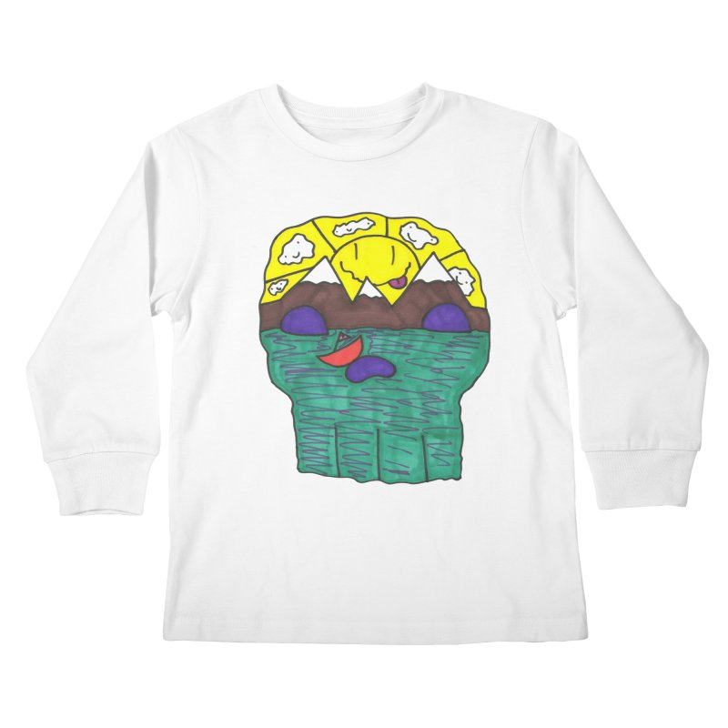 Skull Island Kids Longsleeve T-Shirt by morningviewstudios's Artist Shop