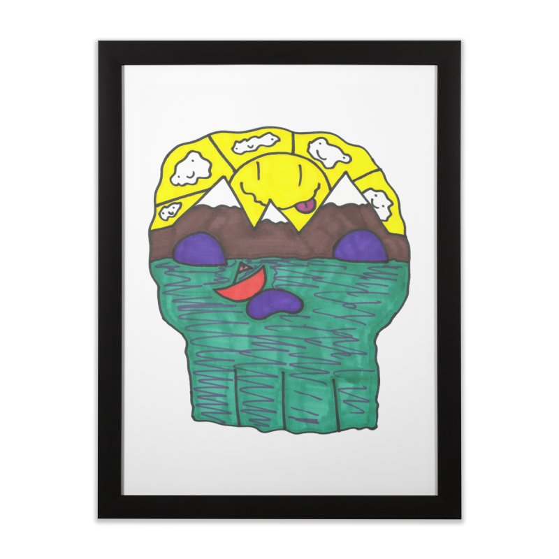 Skull Island Home Framed Fine Art Print by morningviewstudios's Artist Shop