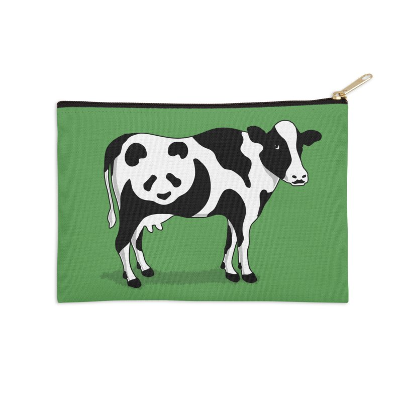 CowPanda Accessories Zip Pouch by Morozinka Artist Shop
