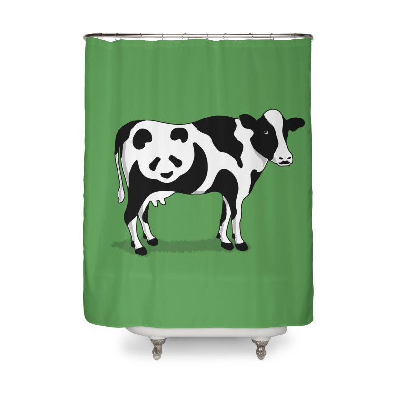 CowPanda Home Shower Curtain by Morozinka Artist Shop