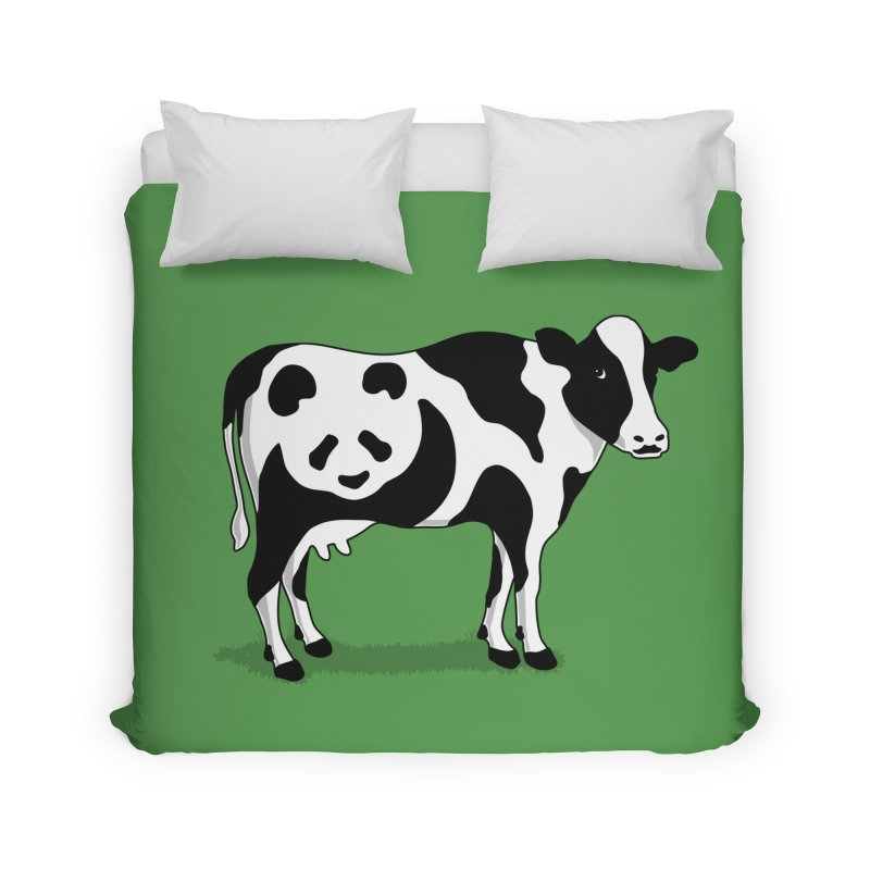 CowPanda Home Duvet by Morozinka Artist Shop