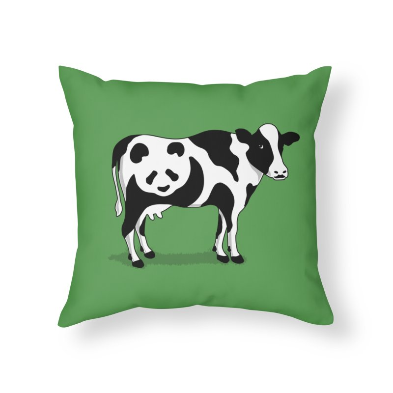 CowPanda Home Throw Pillow by Morozinka Artist Shop