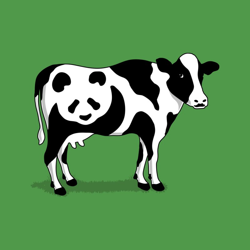 CowPanda None  by Morozinka Artist Shop