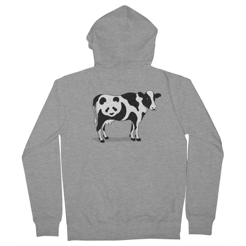 CowPanda Men's Zip-Up Hoody by Morozinka Artist Shop