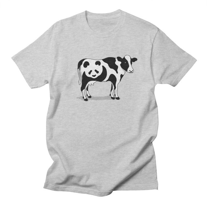 CowPanda in Men's T-shirt Heather Grey by Morozinka Artist Shop