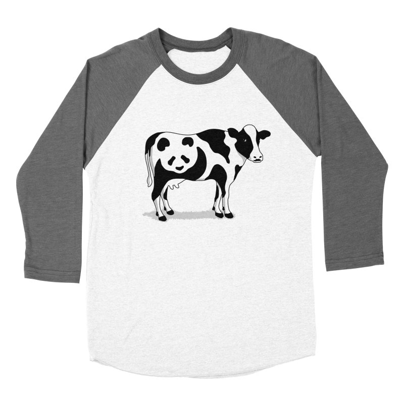 CowPanda Men's Baseball Triblend T-Shirt by Morozinka Artist Shop