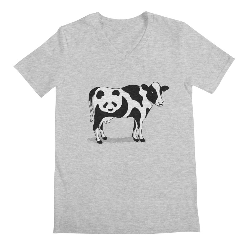 CowPanda Men's V-Neck by Morozinka Artist Shop