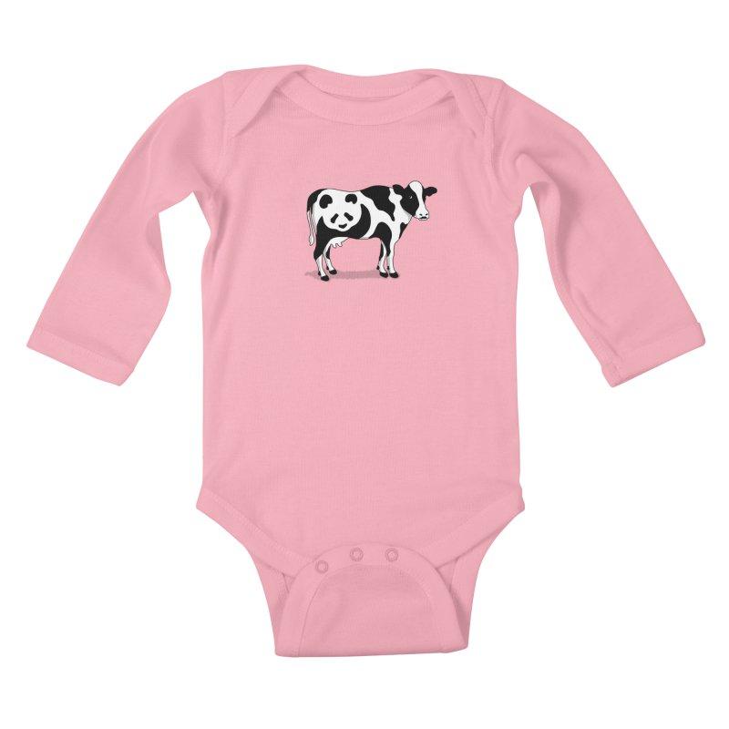 CowPanda Kids Baby Longsleeve Bodysuit by Morozinka Artist Shop
