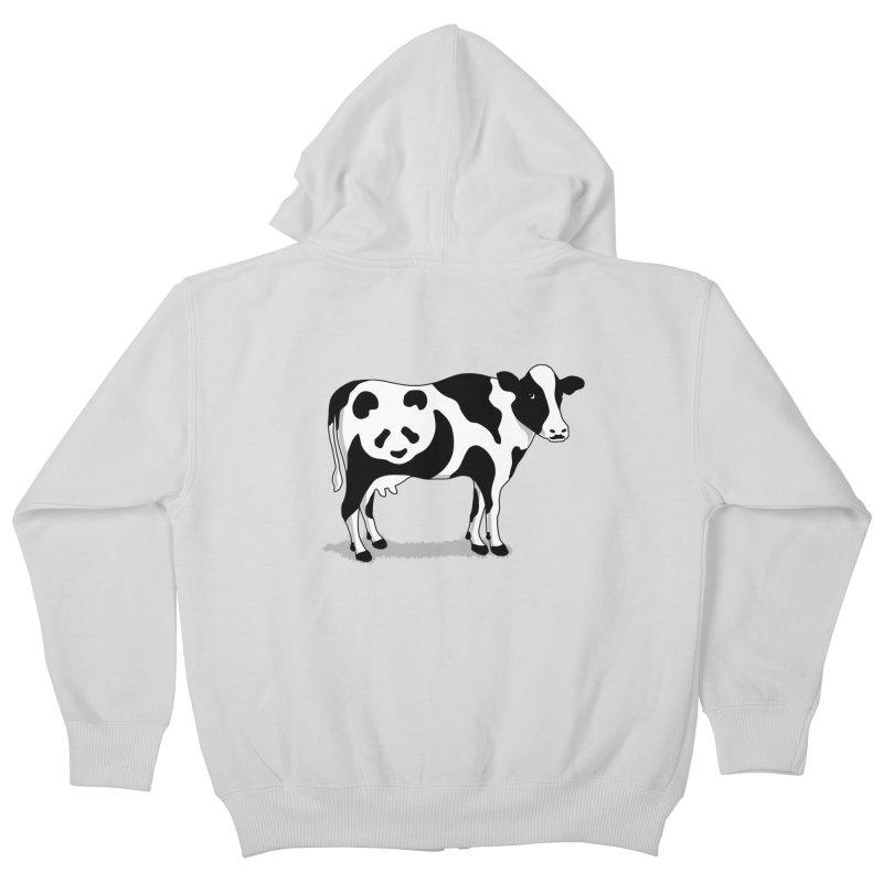 CowPanda Kids Zip-Up Hoody by Morozinka Artist Shop