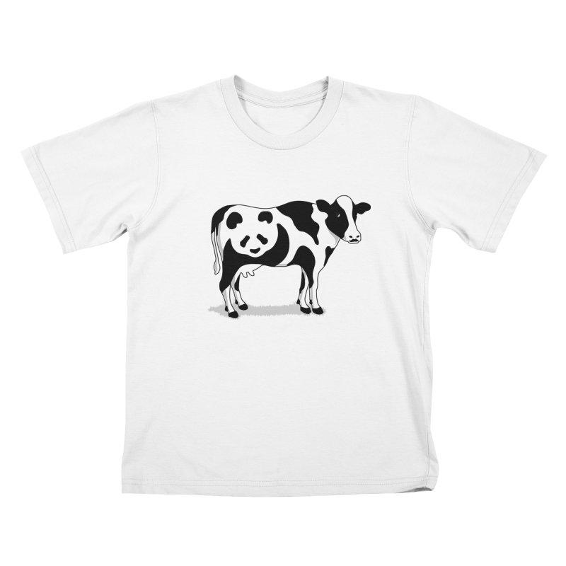 CowPanda Kids T-shirt by Morozinka Artist Shop