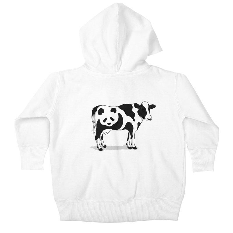 CowPanda Kids Baby Zip-Up Hoody by Morozinka Artist Shop