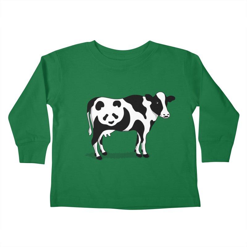 CowPanda Kids Toddler Longsleeve T-Shirt by Morozinka Artist Shop