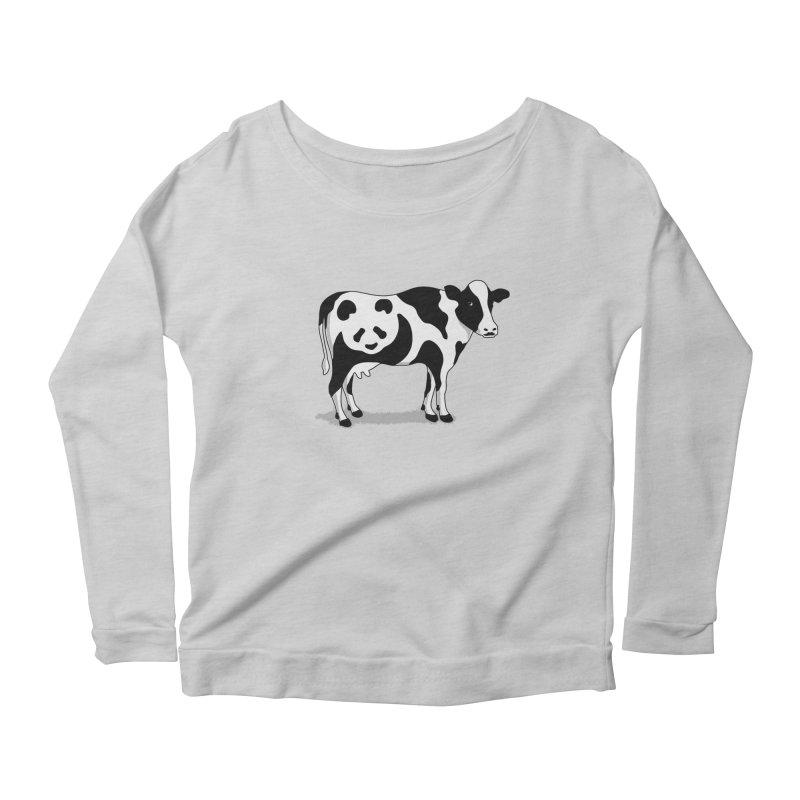 CowPanda Women's Scoop Neck Longsleeve T-Shirt by Morozinka Artist Shop
