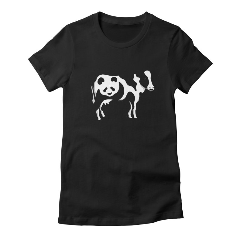 CowPanda Women's Fitted T-Shirt by Morozinka Artist Shop
