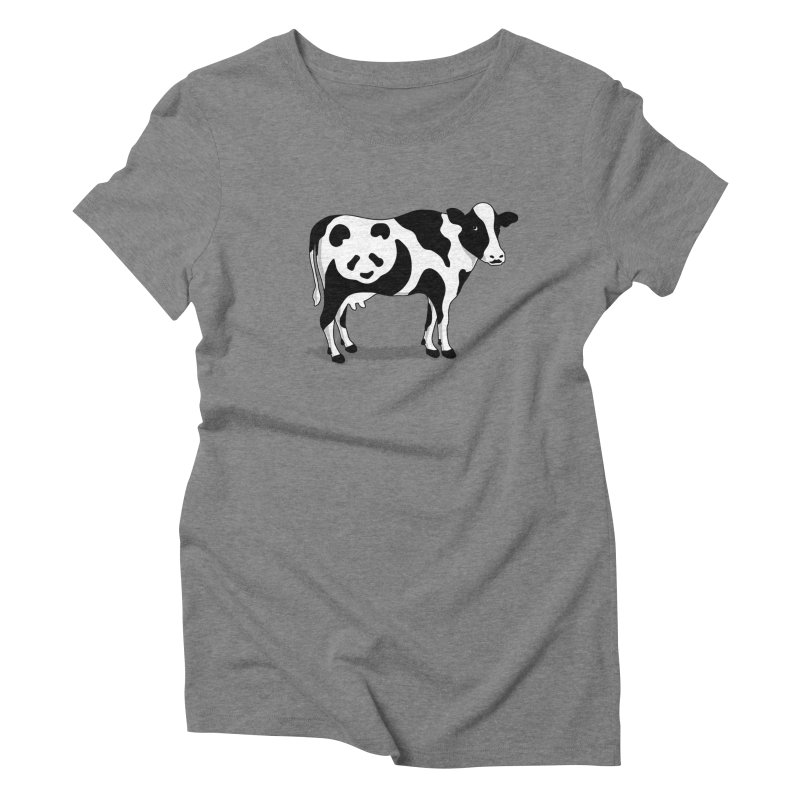 CowPanda Women's Triblend T-shirt by Morozinka Artist Shop