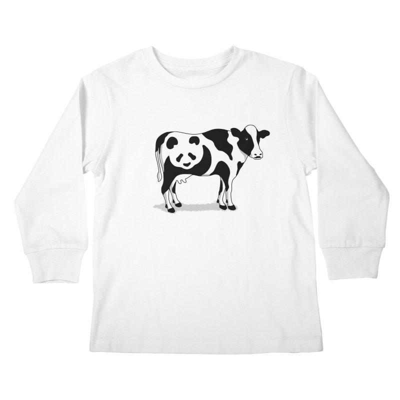 CowPanda Kids Longsleeve T-Shirt by Morozinka Artist Shop