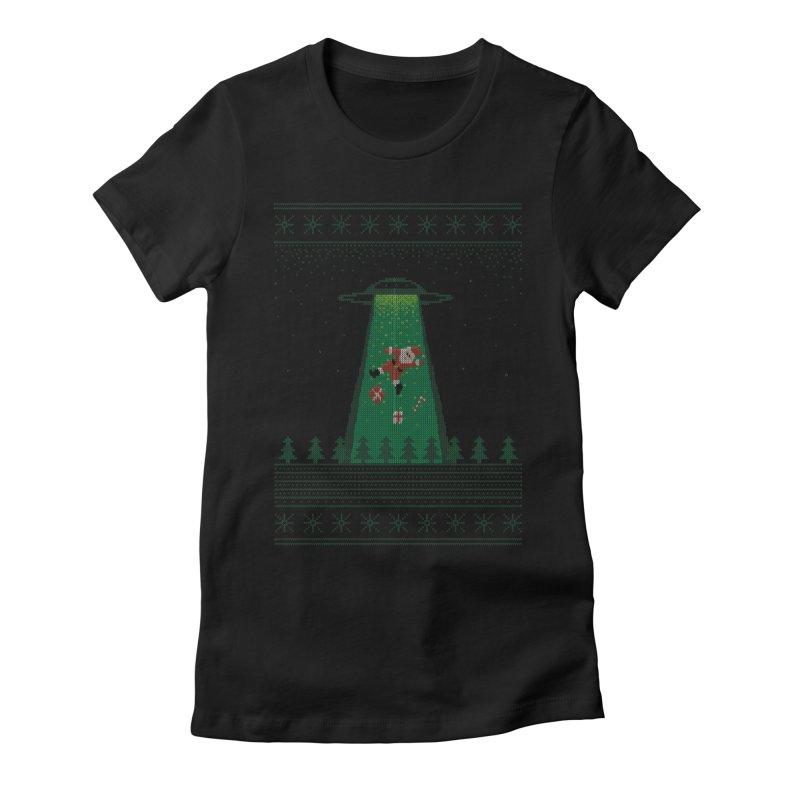 Goodbye Santa Women's Fitted T-Shirt by Morozinka Artist Shop