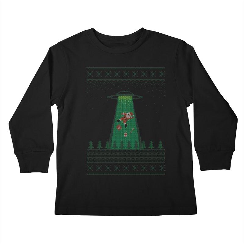 Goodbye Santa Kids Longsleeve T-Shirt by Morozinka Artist Shop